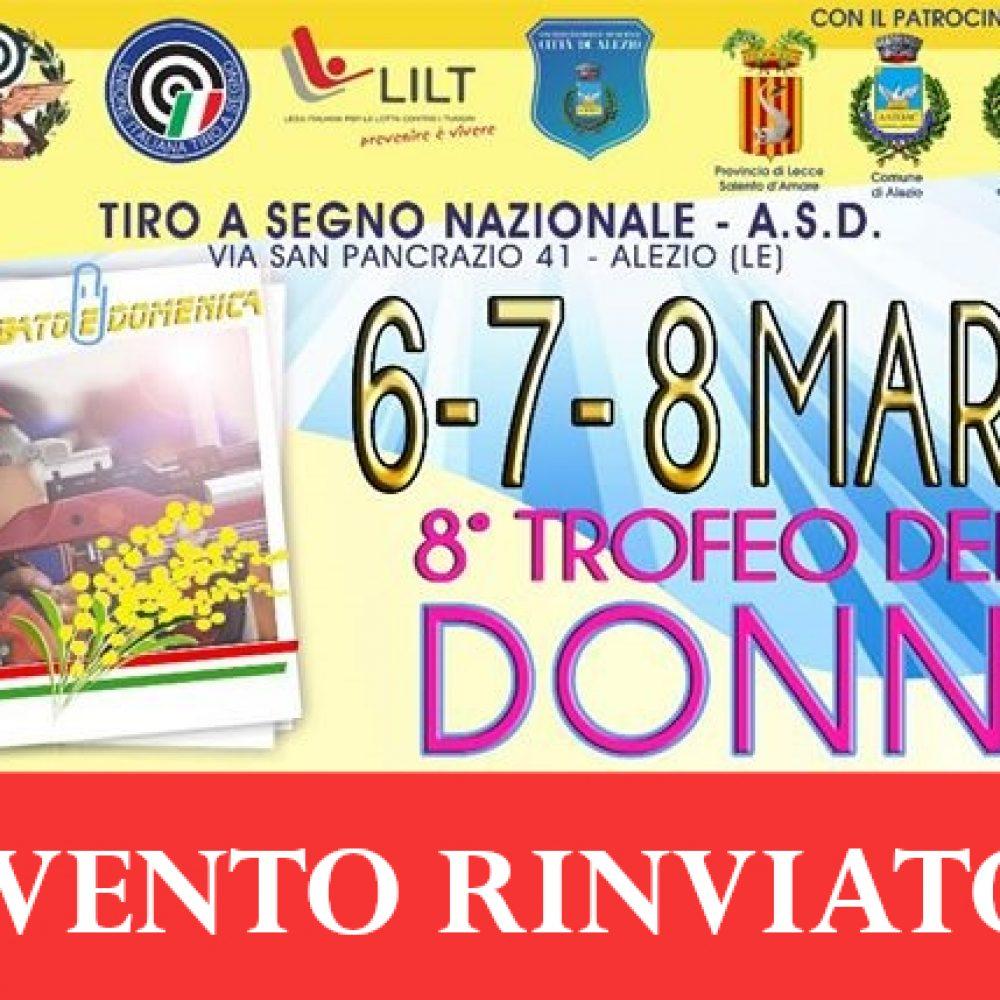 EVENTO RINVIATO: 8° Trofeo delle Donne