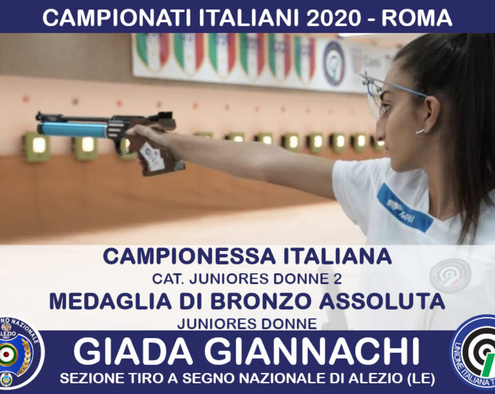 Campionati Italiani 2020: a Roma trionfo di Giada Giannachi
