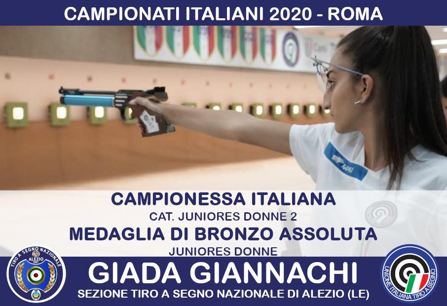 Finale Campionato Italiano Tiro A Segno Giada Giannachi Alezio Lecce