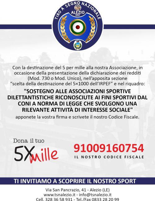 5 per 1000 Tiro Segno Nazionale Alezio Lecce